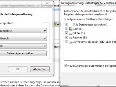 3. Die SSD Festplatte vom Zeitplan ausschließen